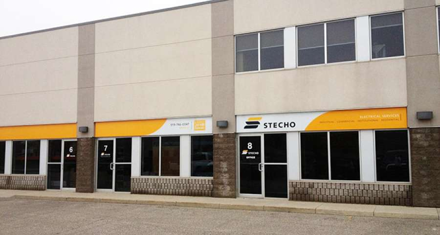 Stecho Electric's offices in Waterloo, Ontario.